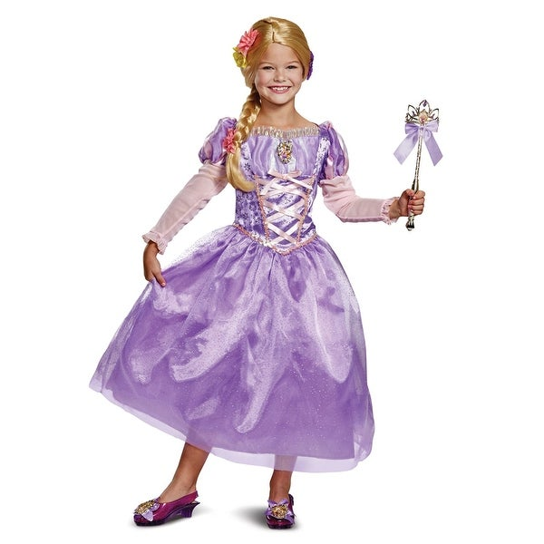 Girls Tangled Rapunzel Deluxe Gown Costume