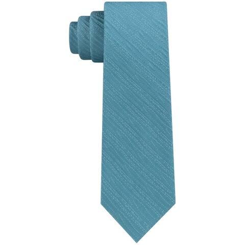 Calvin Klein Mens Infinite Ripple Self-Tied Necktie - One Size