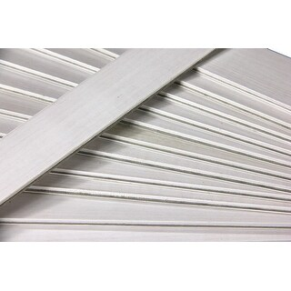 25 White Wooden Straight Edges with Metal Strips Office Supplies - 12""