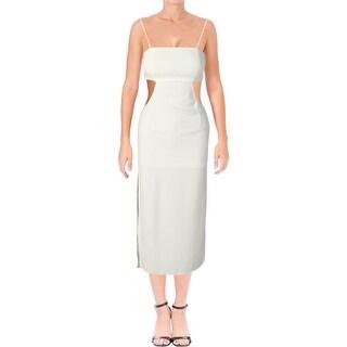 Aqua Womens L8825051 Cocktail Dress Strapless Midi