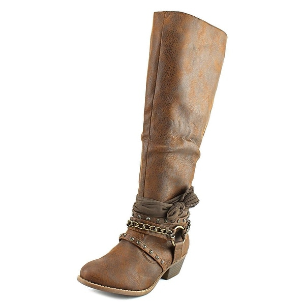 Not Rated Tulia Women Round Toe Synthetic Tan Boot