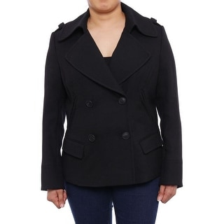 Lafayette 148 New York  Double-Breasted Button Peacoat Peacoat