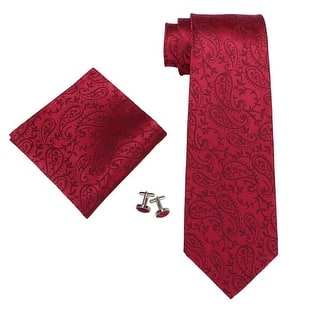 Men's Red Paisley 100% Neck Tie Set With Hanky 18546 https://ak1.ostkcdn.com/images/products/is/images/direct/164f31350a69b4f110202c8e84accef0e16a1eff/Men%27s-Red-Paisley-100%25-Neck-Tie-Set-With-Hanky-18546.jpg?impolicy=medium