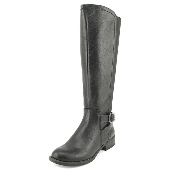 Nine West Leonore Women Round Toe Synthetic Black Knee High Boot