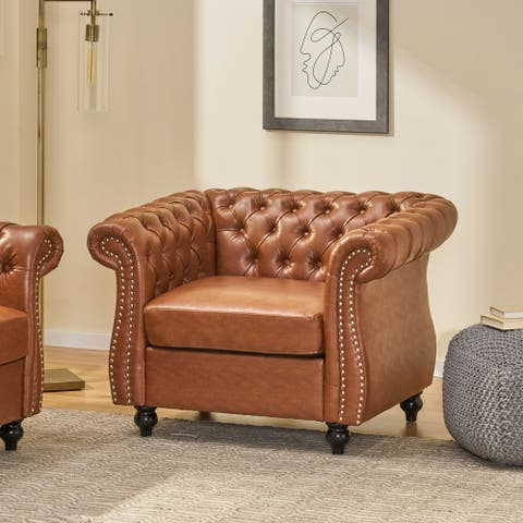 Silverdale Traditional Chesterfield Club Chair by Christopher Knight Home