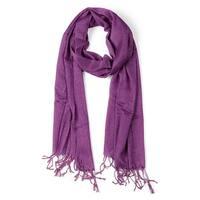 Shiny Glitter Shawl Wrap Scarves with Tassel for Women Men Purple
