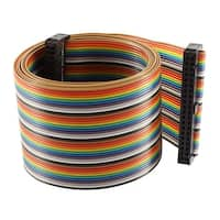 Unique Bargains 2.54mm Pitch 40 Pin 40 Wire F/F Connector IDC Flat Rainbow Ribbon Cable 118cm