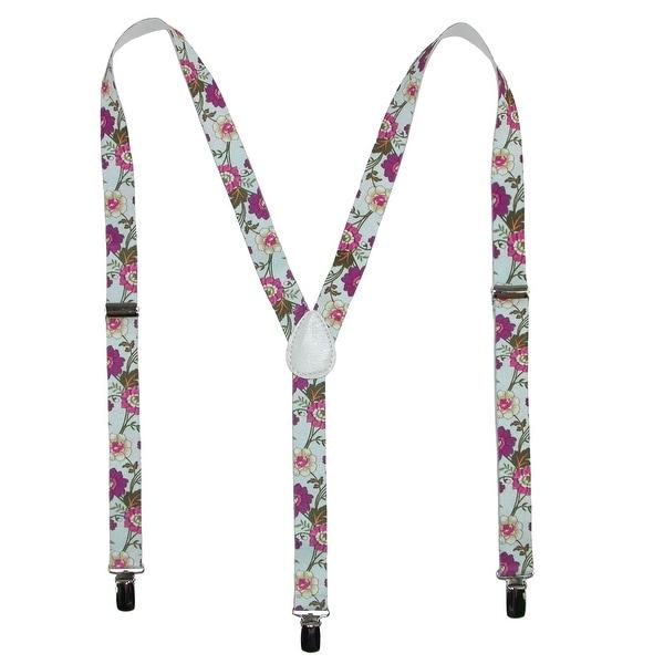 Parquet Women's Elastic Wild Flower Print Novelty Suspender