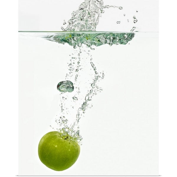 """Apple dropping in water"" Poster Print"