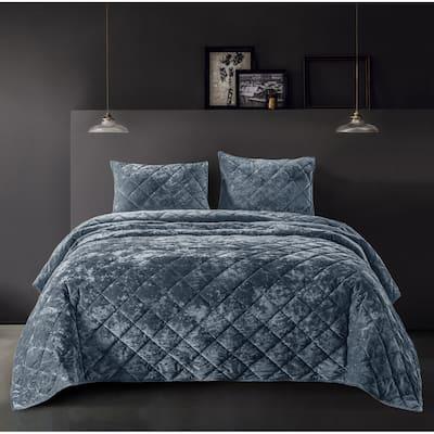 Beaute Living Diamond Velvet Quilt Set