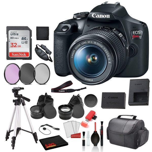 Canon EOS Rebel T7 Digital SLR Camera with 18-55mm Lens (2727C002). Opens flyout.