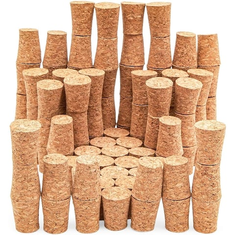 """100 Pack Size #7 Tapered Cork Plugs 0.8"""", Suitable for Most Wine and Beer Bottle"""