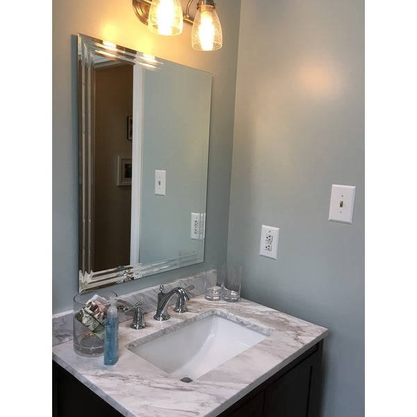 Decor Wonderlad Frameless Tri Bevel Wall Mirror Free Shipping Today 3511409