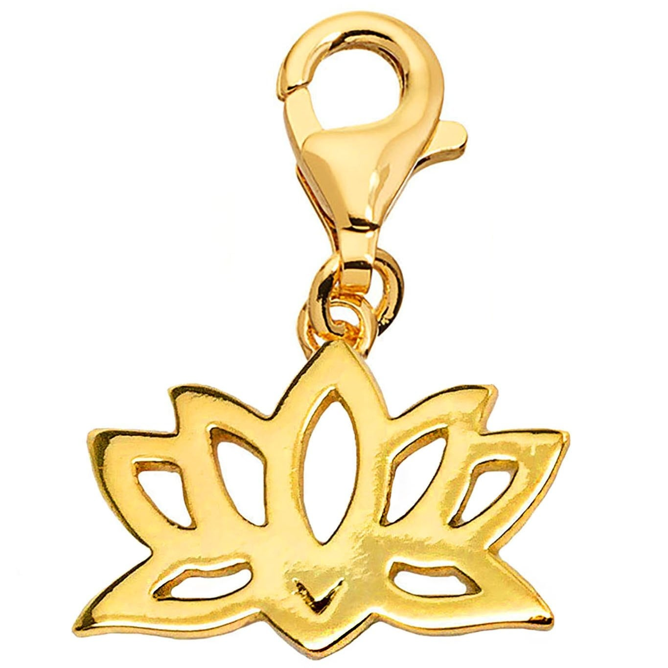 Julieta Jewelry Lotus Gold Sterling Silver Charm - Thumbnail 0