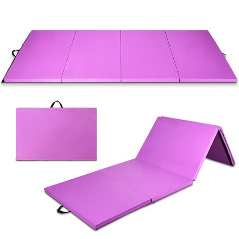 "Costway 4' x 10' x 2"" Folding Gymnastics Tumbling Mat Gym Stretching Yoga"