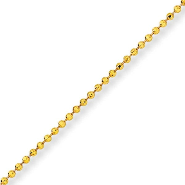 Chisel Yellow Rhodium over Brass 2.00mm Plated Ball Chain - 20 Inches (2 mm) - 20 in