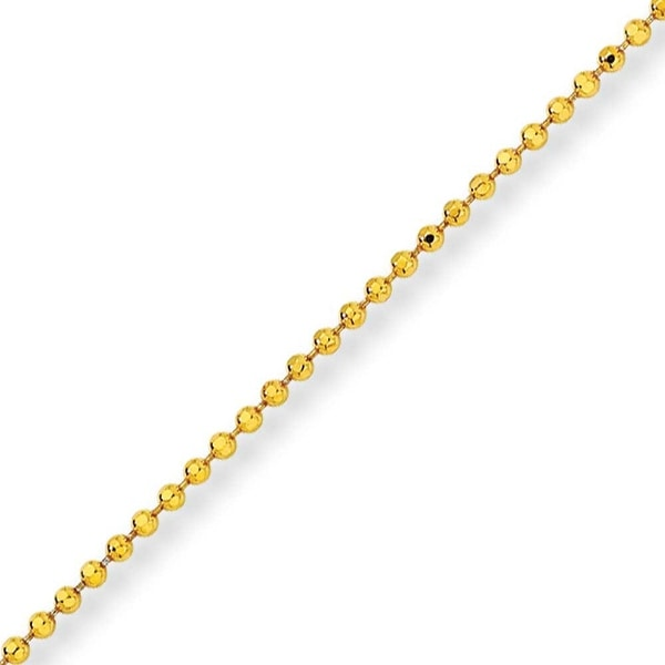 Chisel Yellow Rhodium over Brass 2.00mm Plated Ball Chain - 24 Inches (2 mm) - 24 in