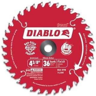 Freud 4-.38in. Hi-Density 36 Tooth Diablo Cordless Trim Saw Blade D0436X