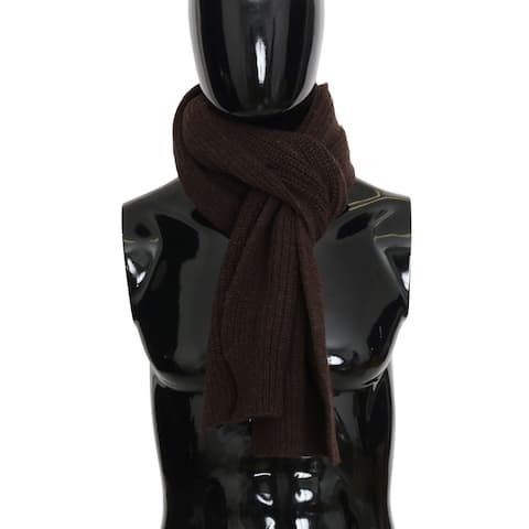 Dolce & Gabbana Brown Wool Woven Men's Scarf - One Size