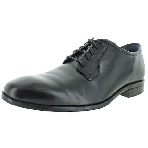 Cole Haan Mens Warner Grand Postman Oxfords Leather Lace-Up - Black