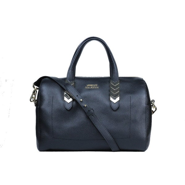 Versace Collection Black Pebbled Leather Arrow Top Handle Shoulder Bag 2c5764a0de37a