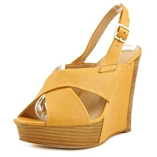 Charles By Charles David Artist Women Open Toe Leather Wedge Sandal