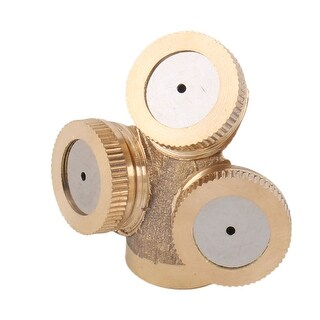 Garden Brass Irrigation Tool 3 Outlet Holes Spray Nozzle 13mm Female Thread Dia