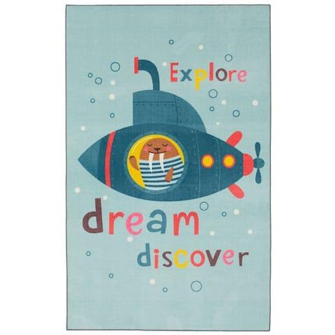 Mohawk Home Submarine Dream Cartoon Kids Area Rug