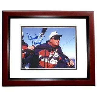8 x 10 in. Dennis Connor Autographed Boating Photo, Mahogany