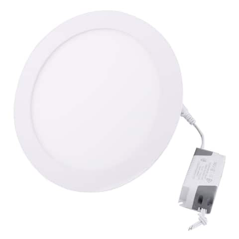 Warm White 15W Round Office LED Recessed Ceiling Panel Light Lamp AC85-265V