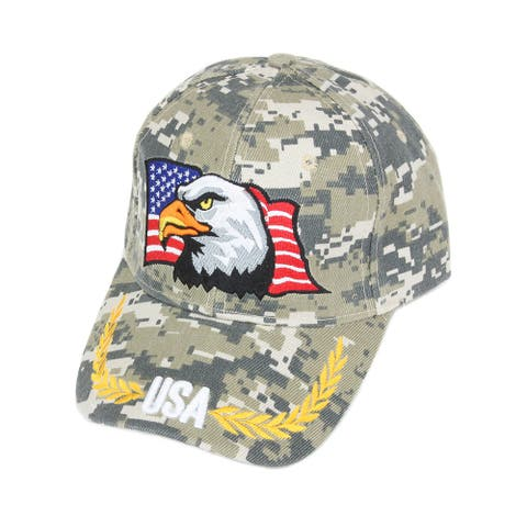 Top Headwear USA American Flag Eagle Digital Camo Baseball Cap - Digital Camo