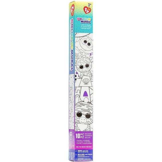 shop beanie boos color in wall mural w markers 71 x20 71 x20