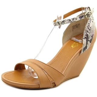 Seychelles Choice   Open Toe Leather  Wedge Sandal
