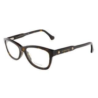 Balenciaga BA4002/V 052 Dark Havana Oval prescription-eyewear-frames - Dark Havana - 53-15-140