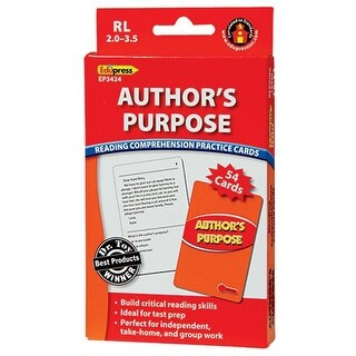 Edupress EP-3424 Authors Purpose Rcpc Red Level
