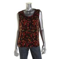 Kasper Womens Petites Pullover Top Printed Sleeveless - PL