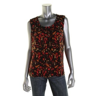 Kasper Womens Petites Pullover Top Printed Sleeveless - PL