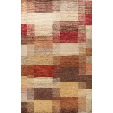 "Contemporary Gabbeh Kashkoli Oriental Wool Area Rug Handmade - 10'2"" x 13'7"""