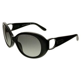 Ralph Lauren RL8118Q 500111 Black Oval Sunglasses