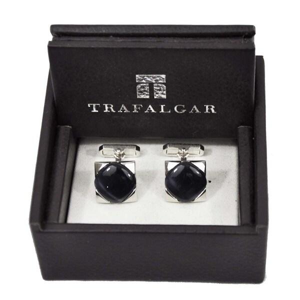 Trafalgar Eye Stone Cuff Links Silver/Gray