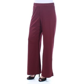 JOHN PAUL RICHARD $36 Womens New 1049 Maroon Wide Leg Wear To Work Pants M B+B