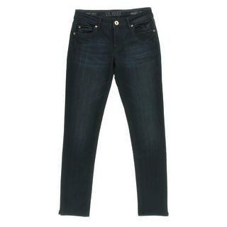 DL1961 Womens Juniors Mid-Rise Dark Wash Ankle Jeans - 24