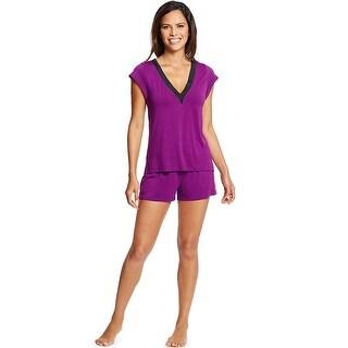 Maidenform V-Neck Shorts Set - Color - Charisma - Size - S