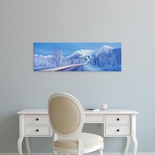 Easy Art Prints Panoramic Images's 'Alyeska Highway, Alaska, USA' Premium Canvas Art