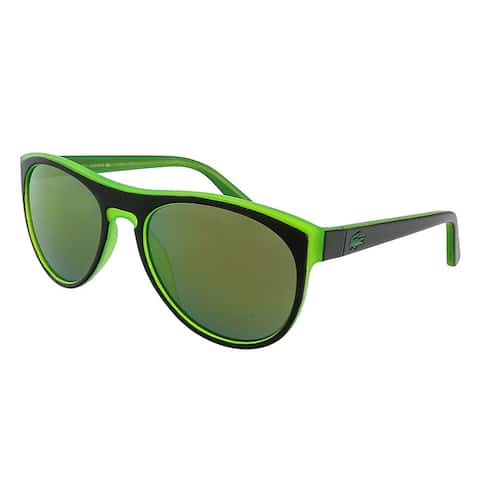 Lacoste L782S 002 Black/Green Rectangle Sunglasses - 54-18-135