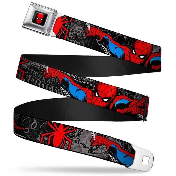 Marvel Comics Spider Man Full Color Spider Man In Action W Spider Logo Seatbelt Belt