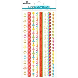 "Paper House Life Organized Rice Paper Border Stickers 8""X4""- - summer fun"