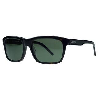 Lacoste L703/S 214 Dark Havana Rectangular Sunglasses - 55-17-135