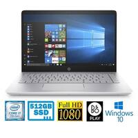 "HP Pavilion 14-BK063 14"" Full HD Laptop with Intel i7-7500U 512GB SSD 8GB RAM"