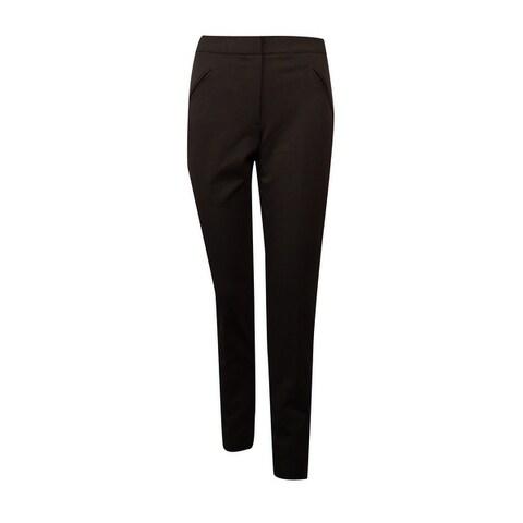 Tahari Women's Amiee Faux Pockets Slim Dress Pants